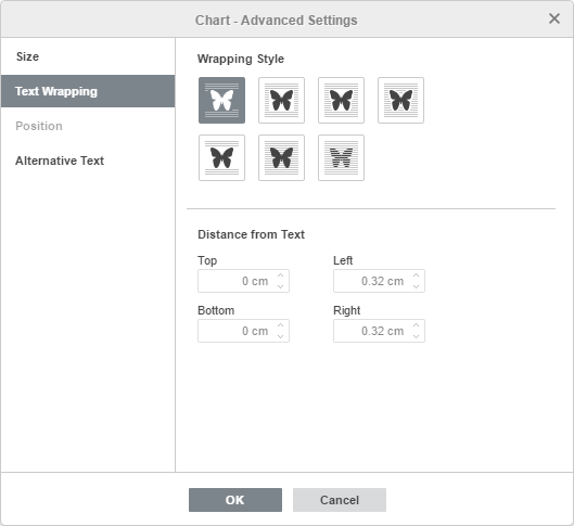 Chart - Advanced Settings: Text Wrapping