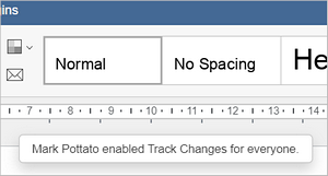 track changes enabled