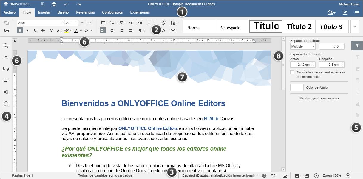 Editor de documentos en línea