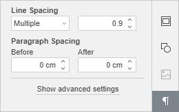 Paragraph Settings tab