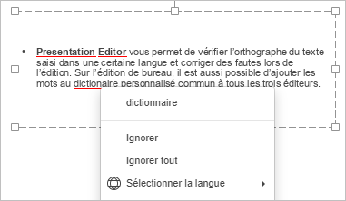Vérification de l'orthographe