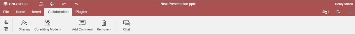 Collaboration tab