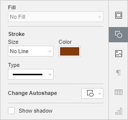 Shape Settings tab