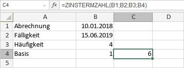 ZINSTERMZAHL-Funktion