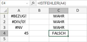 ISTFEHLER-Funktion