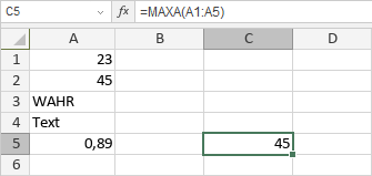 MAXA-Funktion