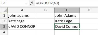 GROSS2-Funktion