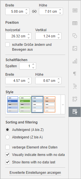 Slicer settings tab