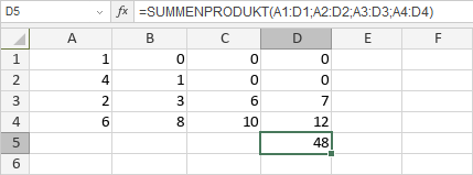 SUMMENPRODUKT-Funktion