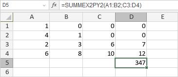 SUMMEX2PY2-Funktion