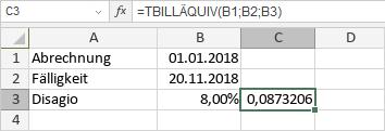 TBILLÄQUIV-Funktion
