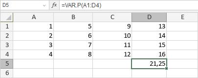 VAR.P-Funktion