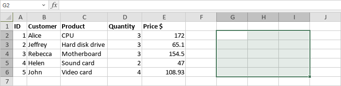Insert array formulas