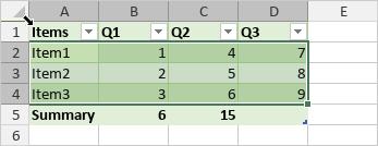 Select table