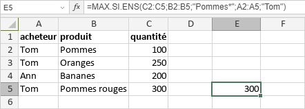 Fonction MAX.SI.ENS