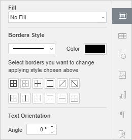 Cell settings tab