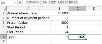 CUMPRINC Function