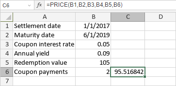 PRICE Function