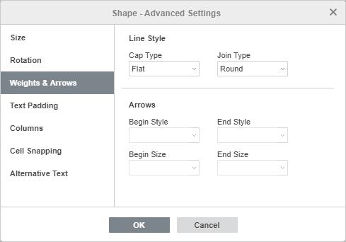 Shape - Advanced Settings