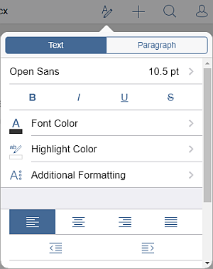 Paragraph Alignment settings