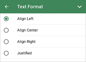 Text Format panel